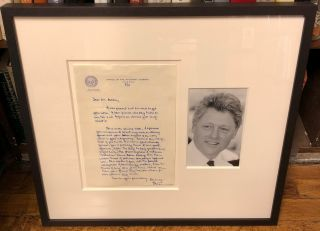 Autographed Letter Signed as Arkansas Attorney General. Bill CLINTON, 1946