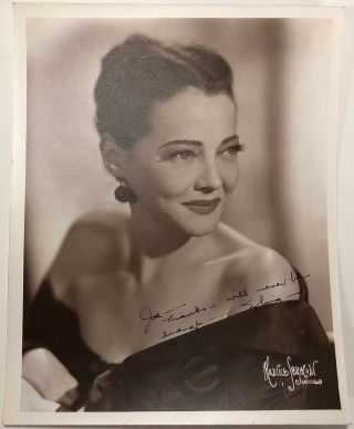 Vintage signed photograph. Silvia SIDNEY, 1910 - 1999