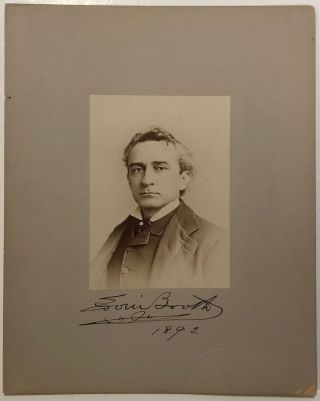 Signed photograph. Edwin BOOTH, 1833 - 1893.