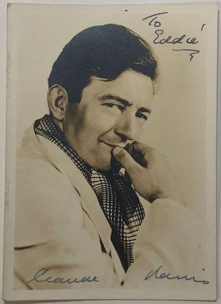 Vintage signed photograph. Claude RAINS, 1889 - 1967