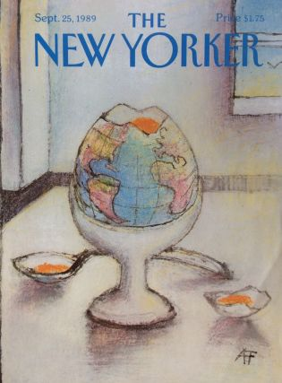 The New Yorker Magazine cover September 25, 1989. Andre FRANCOIS
