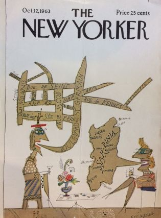 Paris; The New Yorker Magazine cover October 12, 1963. Saul STEINBERG