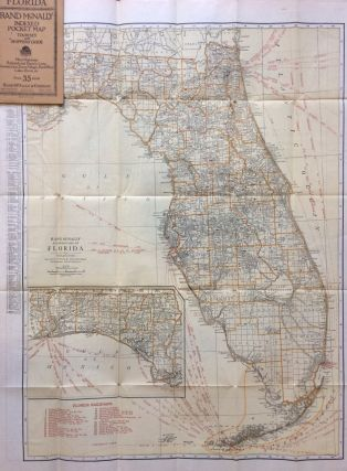 Florida; Indexed Pocket Map Tourist and Shoppers Guide and Main Highway Map of Florida. RAND MCNALLY, CO.