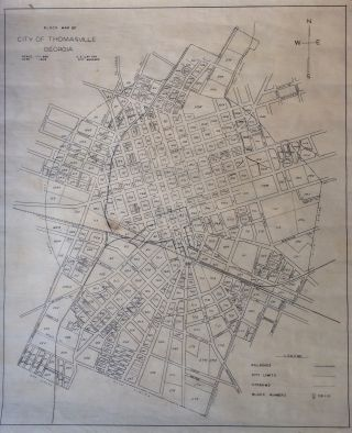 Block Map of City of Thomasville, Georgia. C. E. LAYTON.