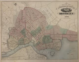 Map of the Consolidated City of Brooklyn. A. BROWN