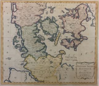 Map of the Danish Isles, Sleswick and Holstein. Thomas KITCHIN.