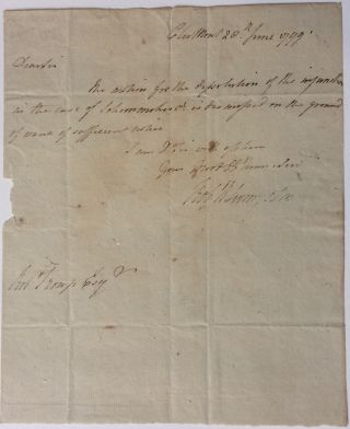 Autograph Letter Signed. Robert LIVINGSTON, 1746 - 1813