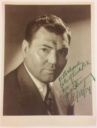 Signed Photograph. Jack DEMPSEY, 1895 - 1983.