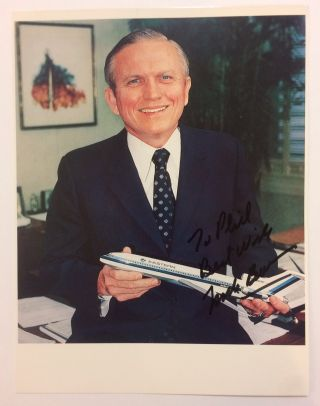 Official Eastern Airlines Color Photograph, Signed. Frank BORMAN, 1928