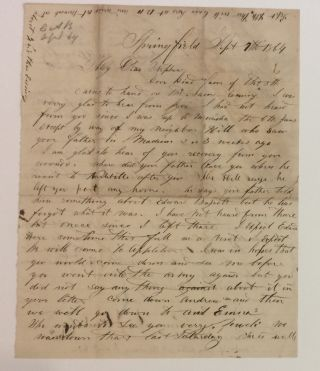 Autographed Letter Signed. CIVIL WAR: WISCONSIN