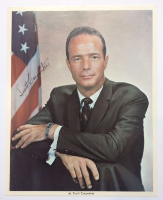 American Astronaut. Signed color Photograph. Scott CARPENTER, 1925 - 2013