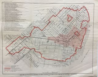 Map of San Francisco Showing Burned District; Accompanying Report of Richard I. Humphrey. Richard...