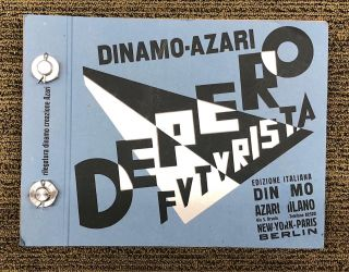 Depero Futurista [The Bolted Book]. Fortunato DEPERO.