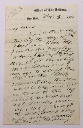 Autograph Letter Signed. Horace GREELEY