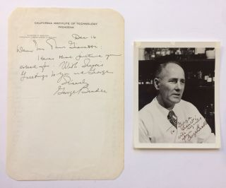 Autographed Letter Signed. George W. BEADLE