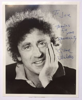 Inscribed Signed Photograph. Gene WILDER