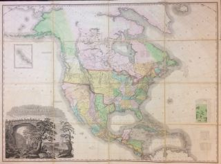 A Map of North America, Constructed To The Latest Information. Henry Schenk TANNER