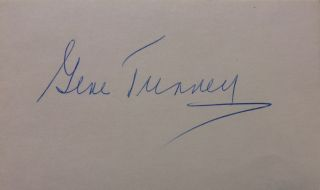 Signed Card. Gene TUNNEY