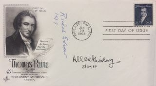Signed First Day Cover. POETRY SOCIETY OF AMERICA: FROST MEDALISTS, 1986