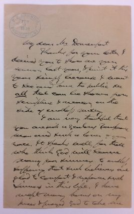 Autographed Letter Signed. Phineas T. BARNUM