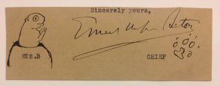 Signature. Ernest Thompson SETON
