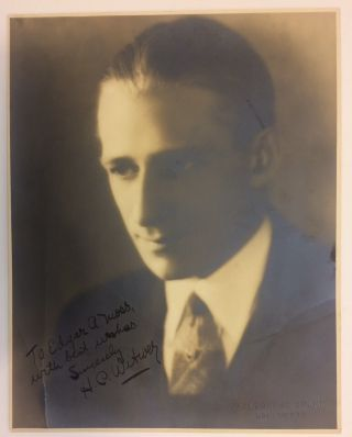 Inscribed Signed Photograph. Harry Charles WITWER