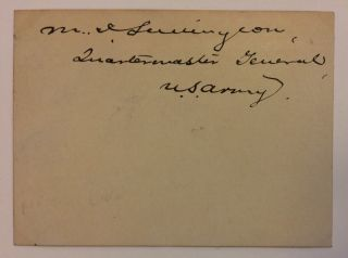 Signed Card. Marshall Independence LUDINGTON