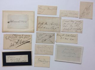 Thirteen late 19th and early 20th signatures in various formats. VINTAGE ACTORS, ACTRESSES