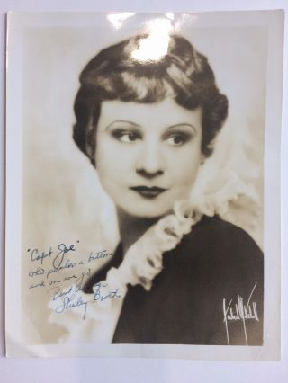 Inscribed Photograph Signed. Shirley BOOTH