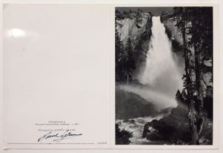 Signed Blank Greeting Card. Ansel ADAMS