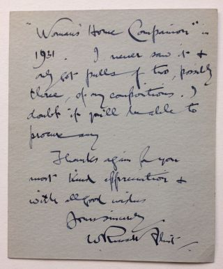 Autographed Letter Signed. William Russell FLINT, Sir