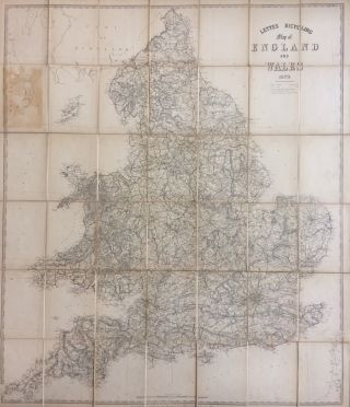 Letts's Bicycle Map of England and Wales; Early bicylce map of England and Wales- Bicyle Craze....