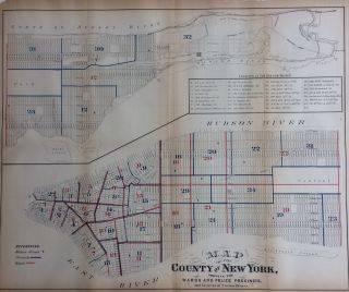 Map of the County of New York Showing the Wards and Police Precincts, And Location of Station Houses. After John Hardy.