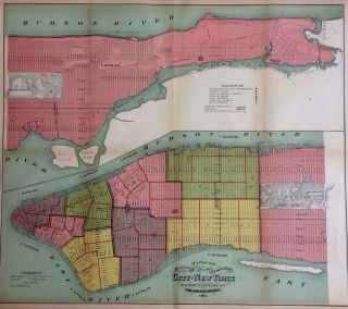 Map of the Boundaries of the Fire Department of the City of New York Made Under the Direction of the Fire Commissioners, 1871. After John Hardy.