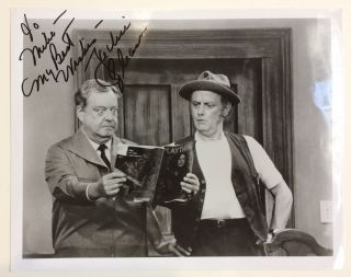 Inscribed Signed Photograph. Jackie GLEASON