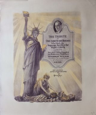 This Tribute to Our American Heroes Who Made the Supreme Sacrifice for Right & Liberty; Suite of six lithographs. Alex O. LEVY.