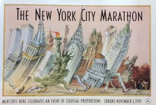 The New York City Marathon; Mercedes-Benz Celebrates an Event of Colossal Proportions - Sunday November 3, 1991. Edward SOREL.