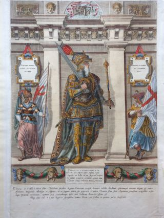 Clotarivs I. Francorvm Rex.; Clothar I, King of the Franks. Dominicus CUSTOS.