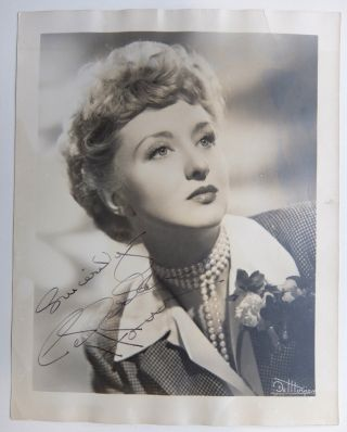 Signed Photograph. Celeste HOLM