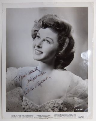 Inscribed Signed Photograph. Susan HAYWARD