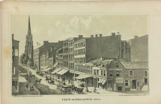 View of Broadway, 1834. D. T. VALENTINE, David Thomas