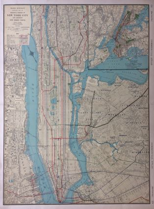 Standard Map of Principal Portion of New York City and Adjoining New Jersey Towns. RAND MCNALLY, CO.