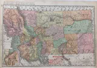 MONTANA RAILROADS. RAND MCNALLY, CO.