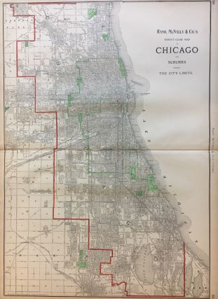 Street Guide Map of Chicago and Suburbs Showing The City Limits. MCNALLY RAND, CO.
