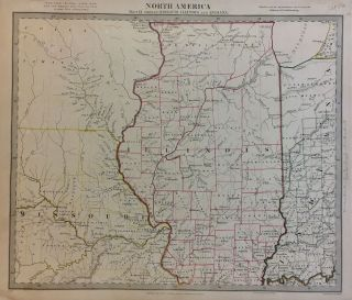 North America Sheet IX Parts of Missouri, Illinois, and Indiana. SDUK, The Society for the...