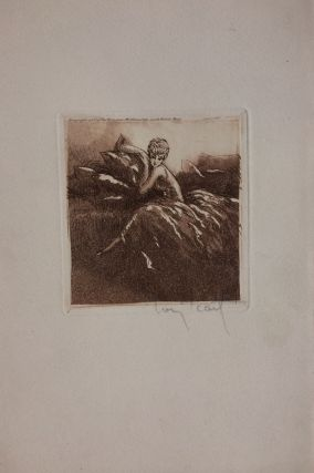 Untitled intaglio print]; pillows. Louis ICART