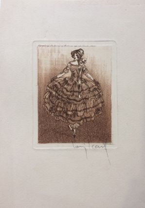Untitled intaglio print]; dress. Louis ICART