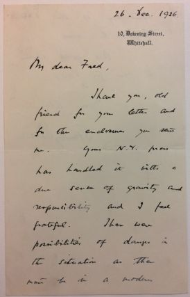 Autographed Letter Signed. Stanley BALDWIN