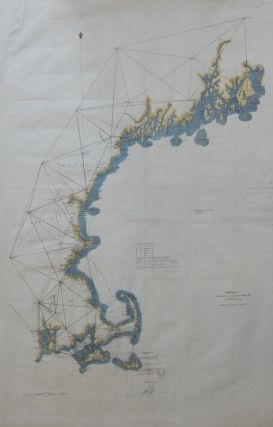 Sketch A Showing the progress in Section No. 1 US Coast Survey in 1844-'45-'46-'& '49. Alexander...