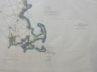 Sketch A Showing the progress in Section No. 1 US Coast Survey in 1844-'45-'46-'& '49